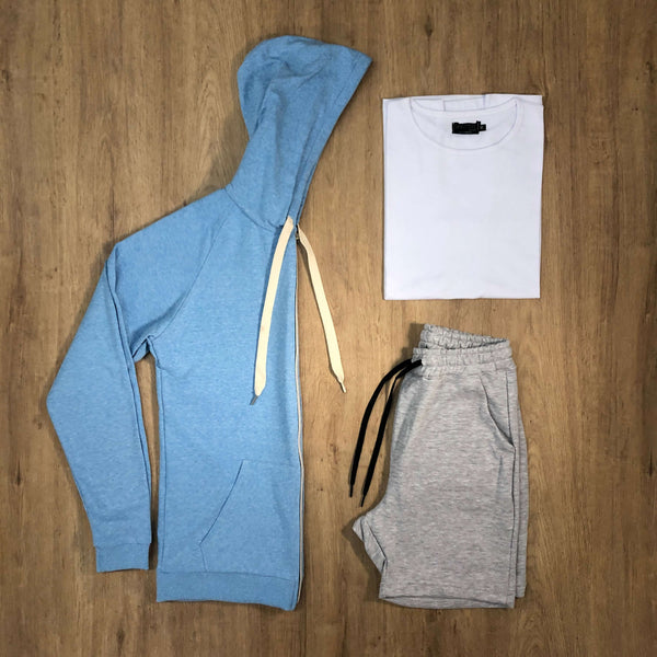 Outfit SNF 606 - Short Mel - Campera Sky - Remera Basic