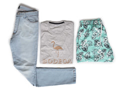 Outfit 456 - Jean Clar - Short Leaf Green - Remera Est Mel