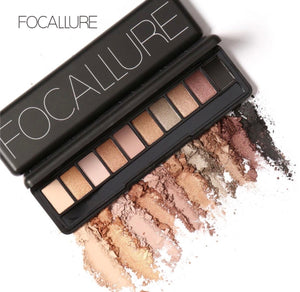 FOCALLURE New Pro 10 Colors Eyeshadow Palette FA08