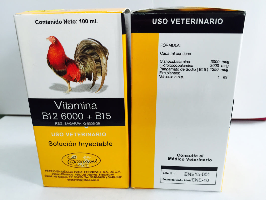 Vitamina B12 6000 + B15 (Not available at this time)