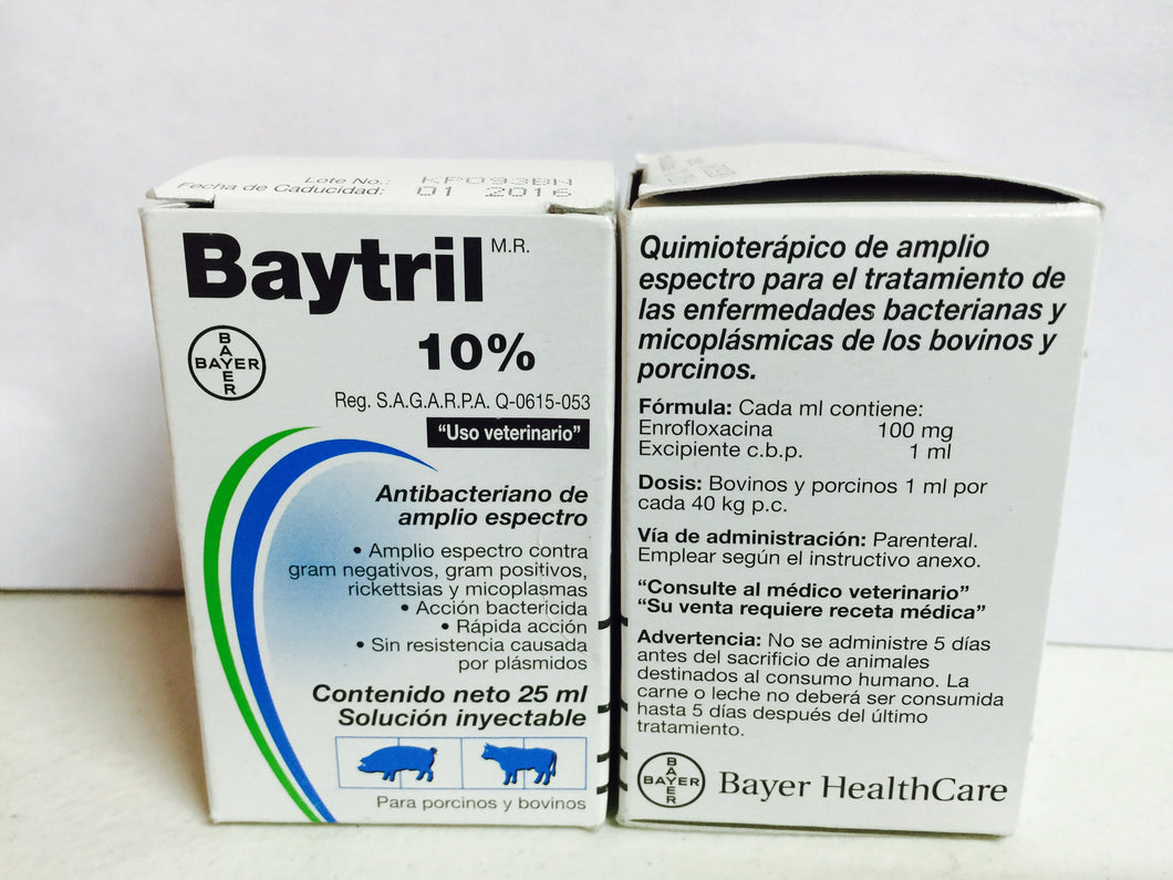 Baytril 10% (Injectable)