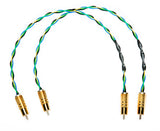 High-Performance Earth Rocker RCA Interconnects - 4X19 AWG - Rhodium Plated Connectors - 1ft Pair