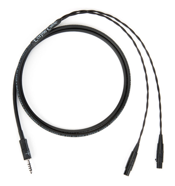 Corpse Cable GraveDigger for AUDEZE LCD Series Headphones - 4.4mm TRRRS - 1.3M