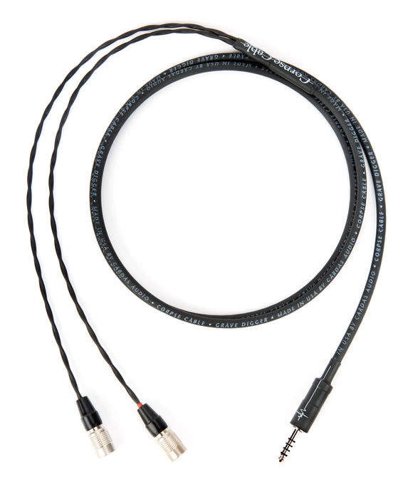 Corpse Cable GraveDigger for MrSpeakers Ether / Flow / C / ÆON - 4.4mm TRRRS - 1.3M