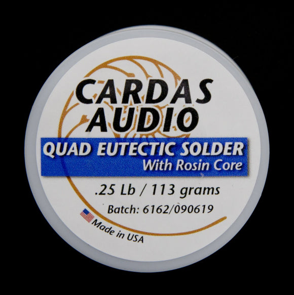 Cardas Audio Quad Eutectic Solder with Rosin Core - .25lb / 113 grams - 92ft (28M)
