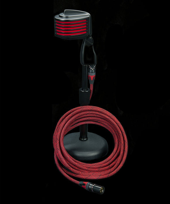 Corpse Cystal Clear Mic Cable / DeadRed Custom