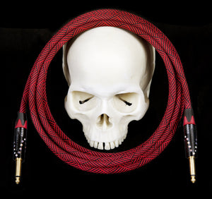 Corpse Crystal Clear Instrument Cable - DeadRed Custom