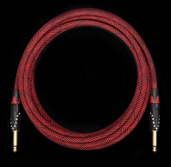 Corpse Crystal Clear Instrument Cable / DeadRed 13ft