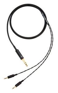 "Corpse Cable for HiFiMAN Ananda / Sundara / Arya Planar Magnetic Headphones - 1/4"" Plug - 6ft"