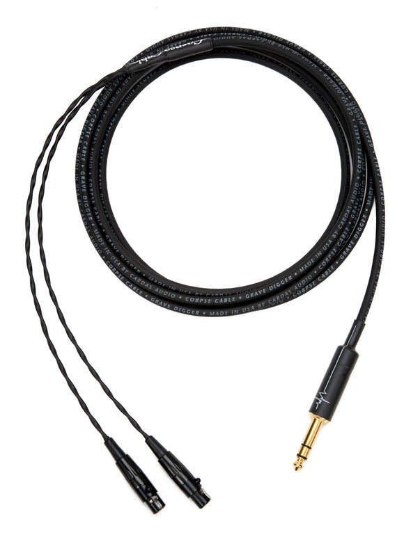 Corpse Cable GraveDigger for Meze Audio Empyrean Planar Magnetic Headphones - 1/4