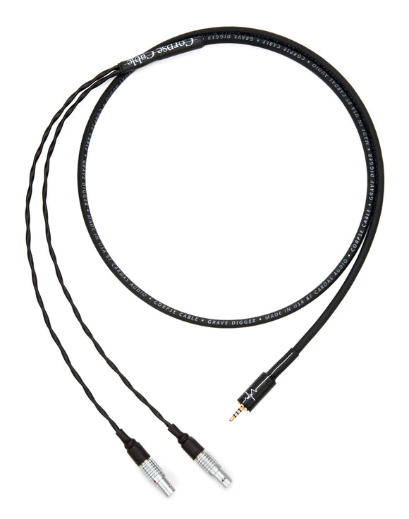 Corpse Cable GraveDigger for Focal Utopia / 2.5mm TRRS Plug / 4ft