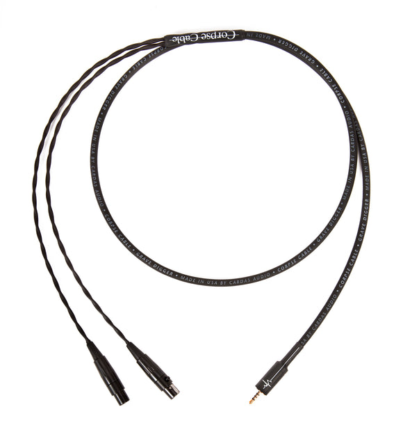 Corpse Cable GraveDigger for Audeze LCD Series Headphones / 2.5mm TRRS Plug / 4ft