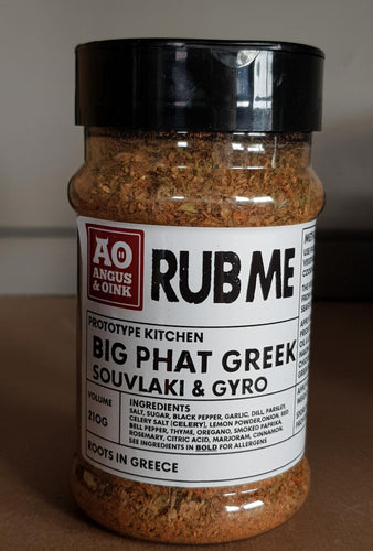 Angus & Oink - Big Phat Greek Rub Seasoning 210g