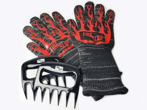 Fire Slap BBQ Pack - 1 x pair Gloves & Bonus Meat Claws