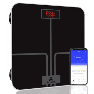 ActiveX (Australia) Ivy Plus, Digital Bathroom Scale For BMI Body Weight With Advanced Free Bluetooth App