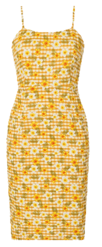 Benita Gingham Wiggle Dress