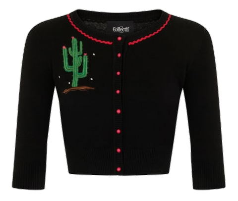Lucy Cactus Cropped Cardigan