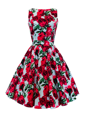 Floral Sky Tea Dress (limited edition)