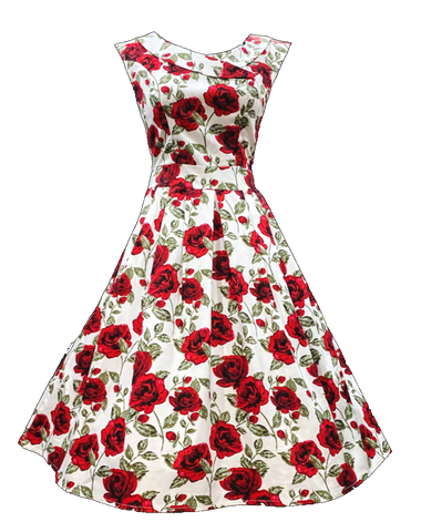 Spring Rose Dress (Calista)