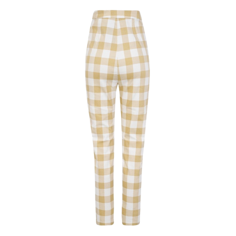 Marie 50s Gingham Trousers