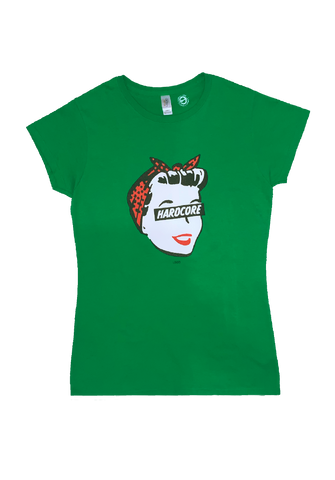 Hardcore Housewife Ladies Tee (green)