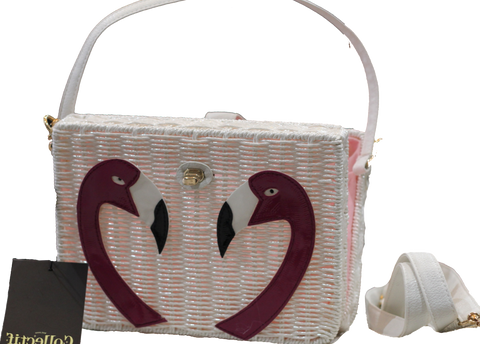 Flamingo Basket Bag