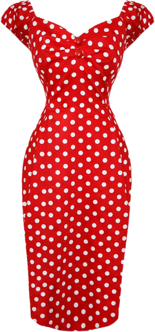 Dolores Polka Dot Wiggle Dress