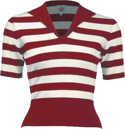 Retro Red Striped Sweater