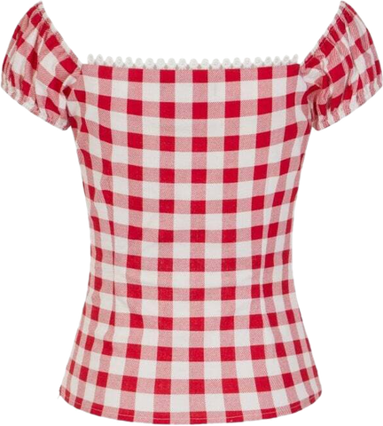Vintage Gingham Dolores Top