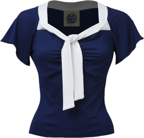 The Pretty (Nautical) Tie Top