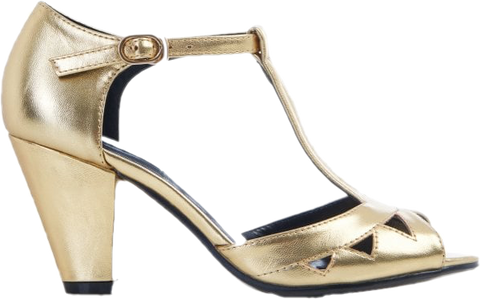 Veronica Metallic Heel- Gold