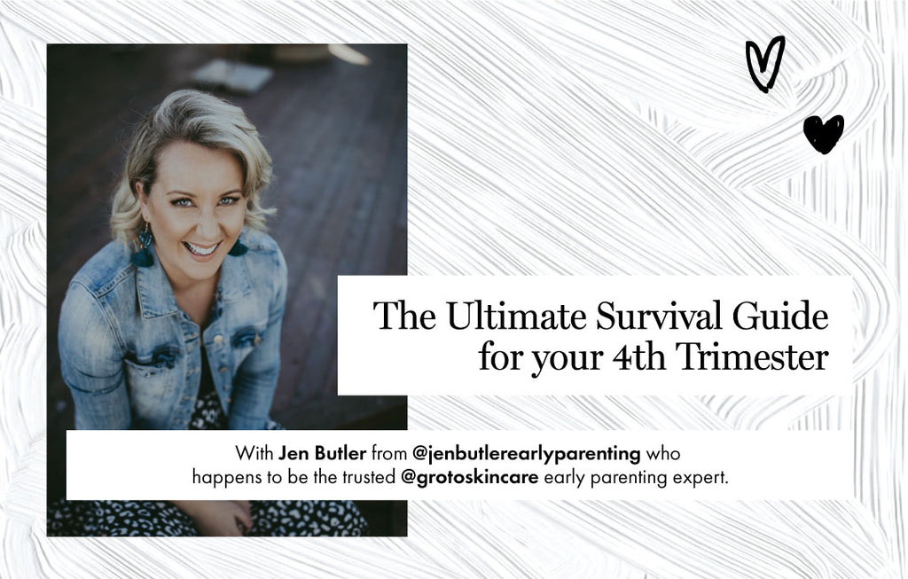 Early parenting expert Jen Butler sets you up with your own ultimate survival guide for the 4th trimester that makes the shock to the system easier-for both bae and you.
