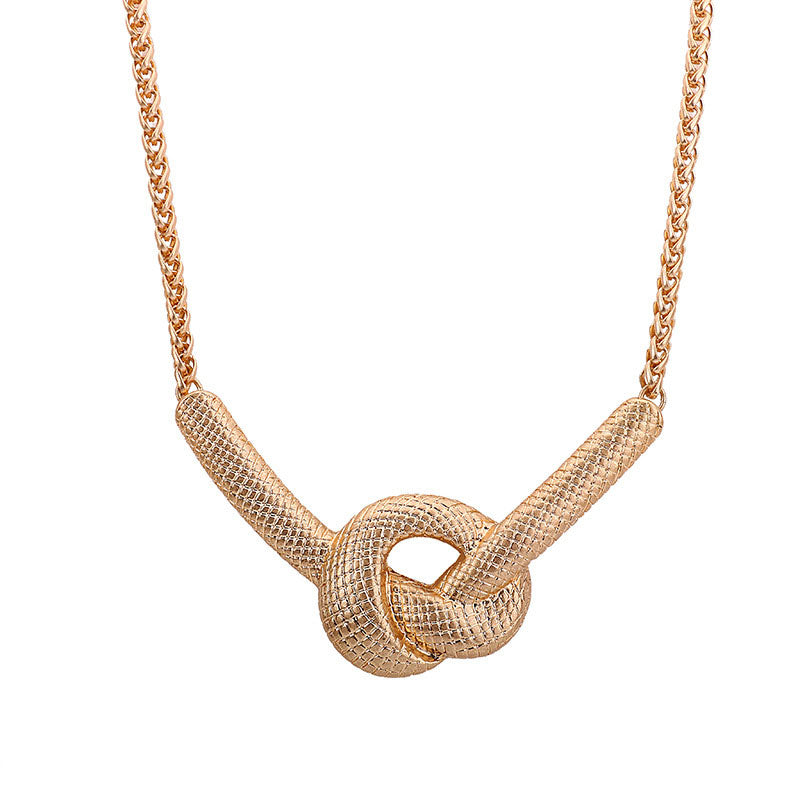 Twist Necklaces Gold Plated Fashion Jewelry