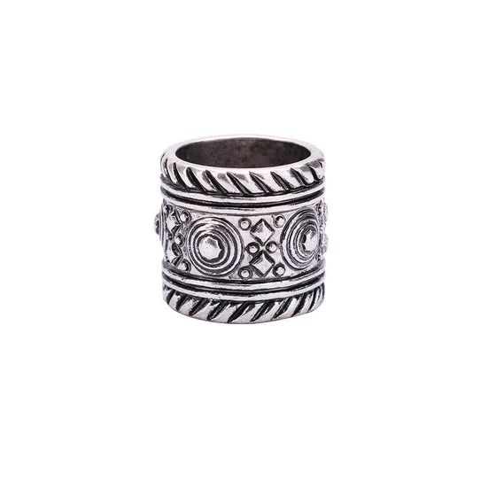 Anti silver Engraved Rings for Women and Men
