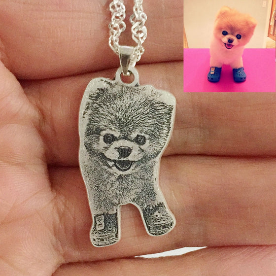 Personalized Dog 990 Sterling Silver Pet Necklace