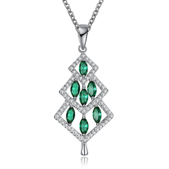 Christmas Green Tree Necklace