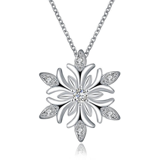 Christmas Snow Flake Necklace