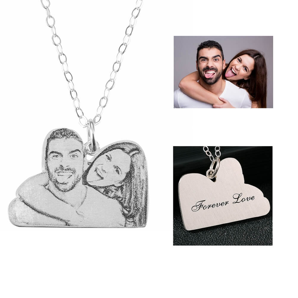 Customize Lovers Pendant Necklace,925 Sterling Silver Handmade Personalized Necklace Jewelry