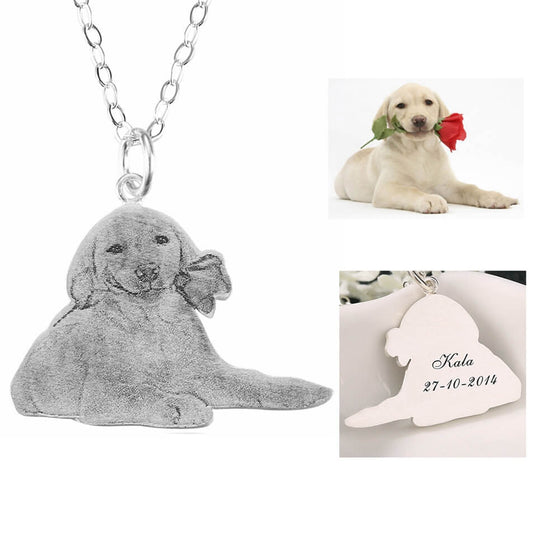 Customize Portrait Dog Necklace