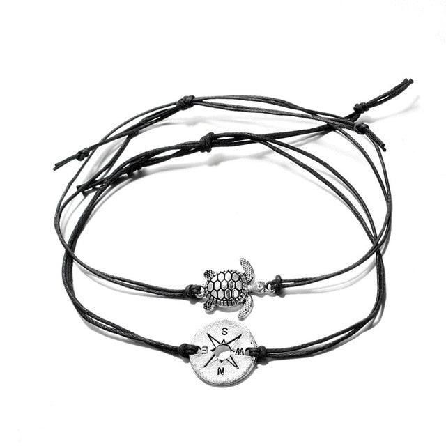 Sea Turtle & Compass Bracelets