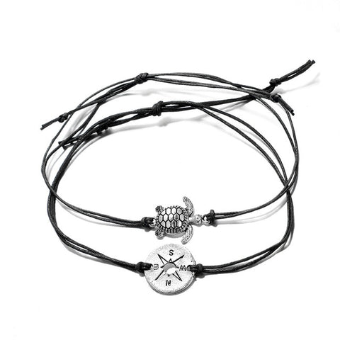 Image of Sea Turtle & Compass Bracelets