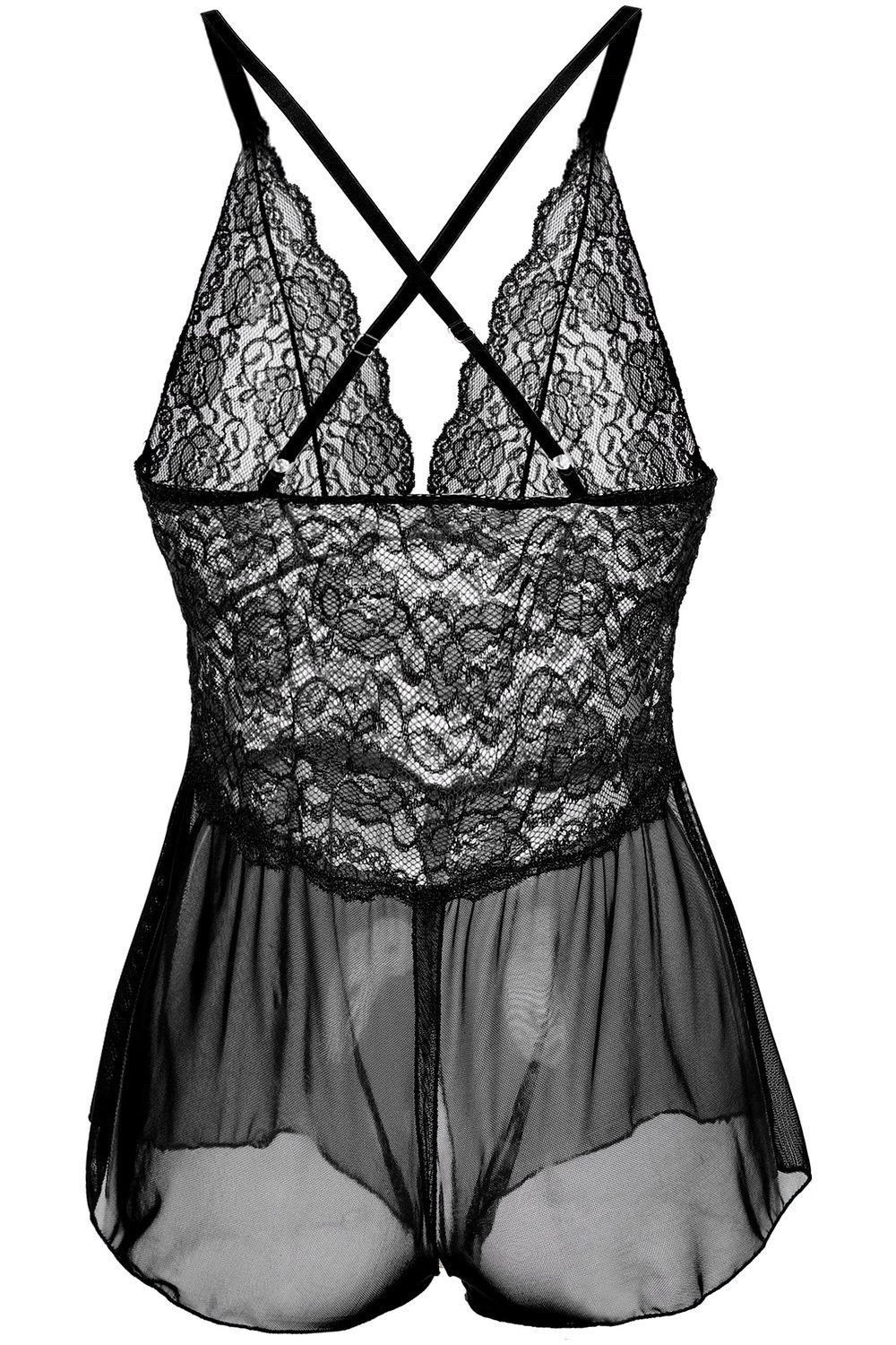 US FAST Women sexy-Lingerie Dress Babydoll Lace Sleepwear Underwear Nightwear