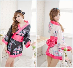 Sexy Toy Women Flower Japanese Kimono Yukata Nightwear Dress Robe Gown Babydoll