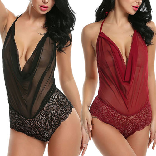 USA Sexy Women`s Sleepwear Lingerie Dress Babydoll Underwear Nightwear Jumpsuit