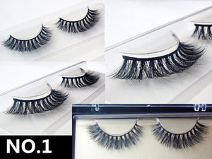 3D Handmade Lashes Mink Thick False Fake Eye Lashes Makeup Eyelashes Extension A