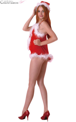 <★ coupon usable immediately> maru-b22334 for sexy adult showing cute Santa open camisole & shorts Christmas Santa Santa Koss Santa Claus animation idol dance costume play costume clothes disguise