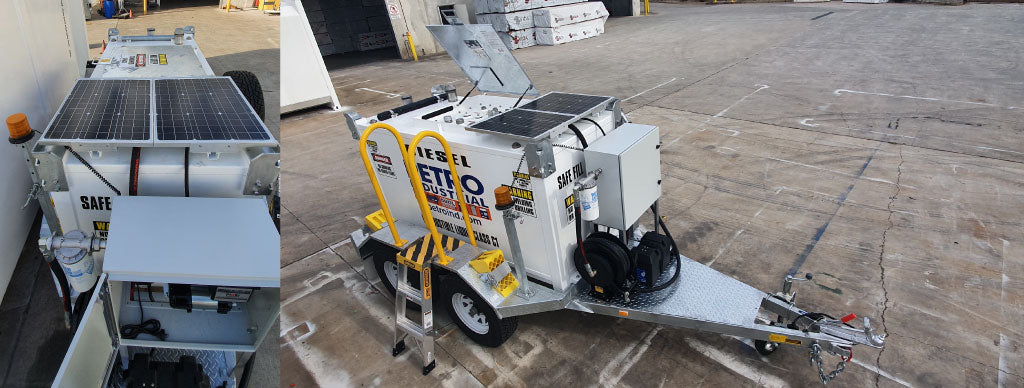 2,000L Diesel Cube Trailer with Solar Panels by PETRO Industrial