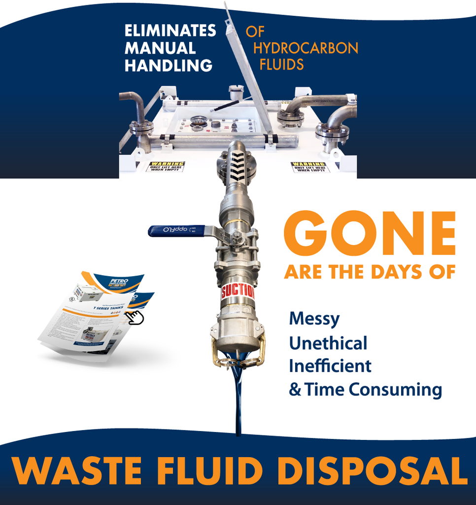 Gone are the days of messy, unethical, time consuming, inefficient waste fluid disposal.