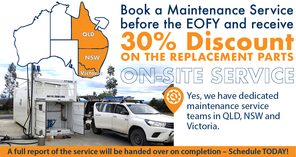 Book a General Service before EOFY and get 30% OFF on Replacement Parts. General service includes checking of all valves, filters, hoses, nozzles and replacement parts. Clean your equipment and extend the lifetime of your asset