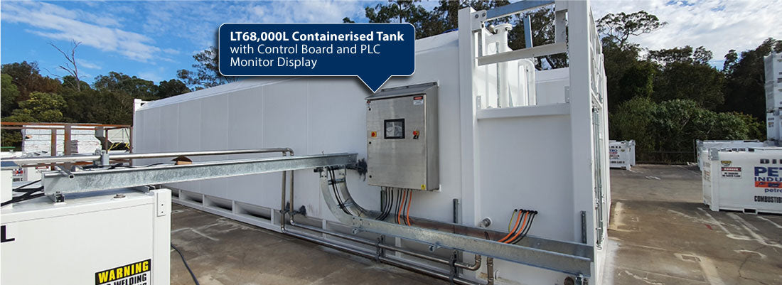 LT68,000L PETRO Containerised Bulk Storage Tank with Control Board and PLC Monitor